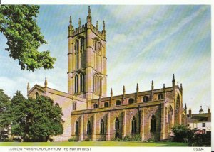 Shropshire Postcard - Ludlow Parish Church - North West - Ref 12882A