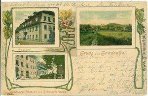 07525 - VINTAGE POSTCARD Ansichtskarten - Polen POLAND - GRUSS AUS Gnadenfrei