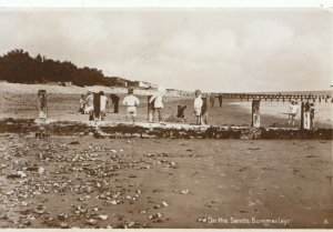 Sussex Postcard - On The Sands - Summerley - Real Photograph - Ref 17803A