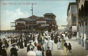 Ocean Park CA From the Bath House c1910 Postcard