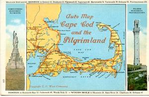 MA - Cape Cod and the Pilgrim Land Auto Map, Views