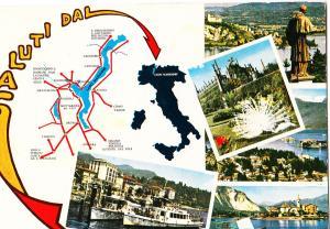 Italy, Saluti dal Lago Maggiore, 1975 used Postcard