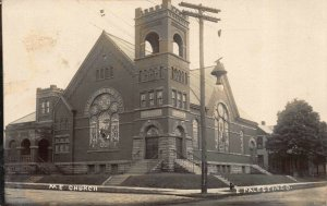 Real Photo Postcard M.E. Church in East Palestine, Ohio~122721