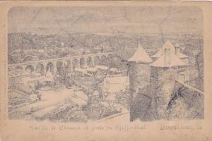 Valle de Clausen et porte du Pfaffenthal , Luxembourg , PU-1900