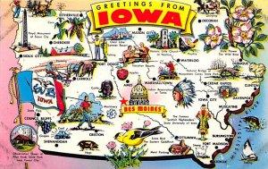 Maps Iowa USA Unused
