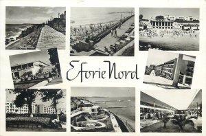 Romania Eforie nord multi view plaja marea neagra hotel turisti faleza Postcard