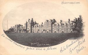Hartford Connecticut~Trinity College~Long Campus Building Panorama~1904 Postcard