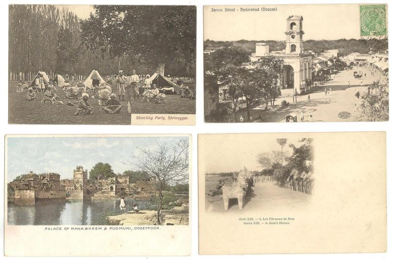 India collection of better postcards x 6