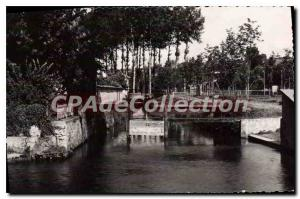 Postcard Old Crecy en Brie S and M Swimming and Tennis