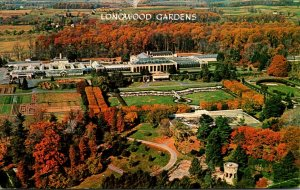 Ppennsylvania Kennett Square Aerial View Of Longwood Gardens 1966