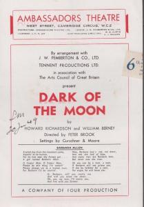 Dark Of The Moon Sandra Dorne Mystery  London Ambassadors Theatre Programme