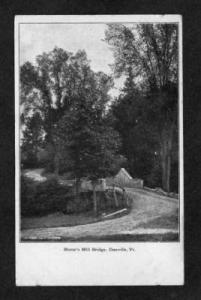 VT Morse's Mill Bridge DANVILLE VERMONT Postcard--