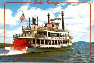 New York Lake George S S Minne-Ha-Ha Steamboat