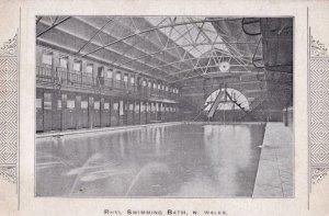 Rhyl Swimming Bath Pool Antique Welsh Postcard