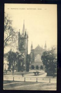 Watertown, Massachusetts/MA/Mass Postcard, St Patrick's Church