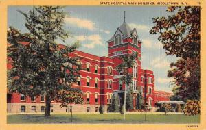 Middletown New York State Hospital Linen Vintage Postcard JA4741564