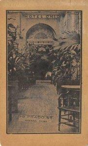 HOTEL OHIO Havana, Cuba 99 Prado St. 1915 Vintage Postcard