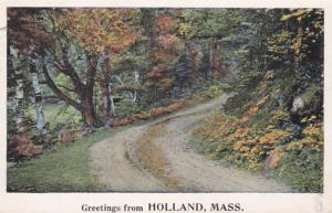 Massachusetts Greetings From Holland 1927