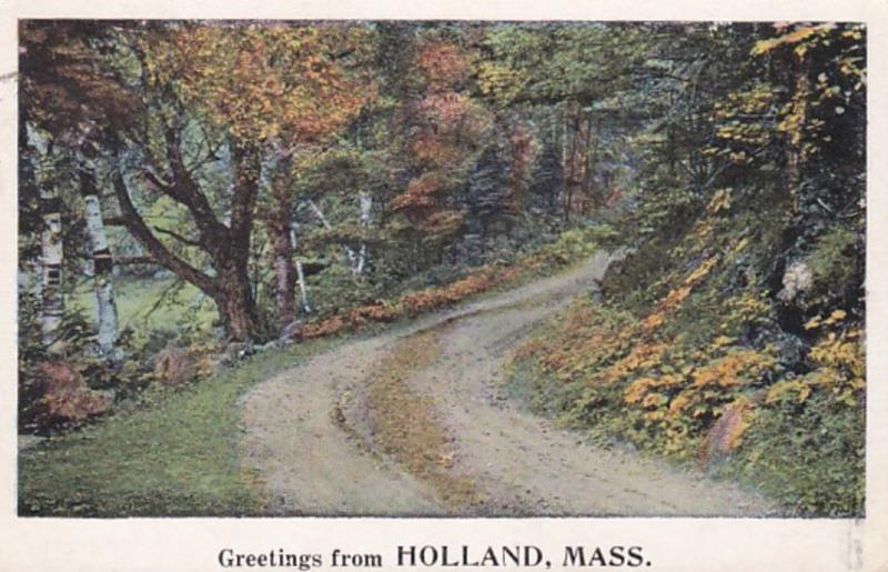Massachusetts Greetings From Holland 1927