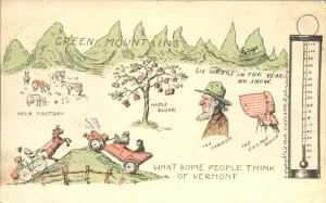 What Outsiders Think of Vermont - Milk, Maple Sugar, Snow, Mountains - Humor