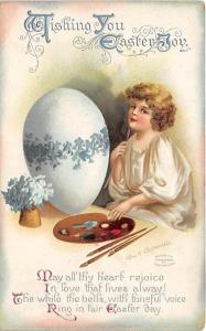 Artist Ellen Clapsaddle Easter Post Card 1915