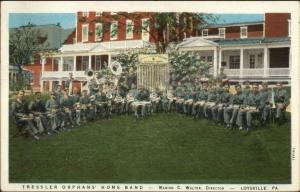 Loysville PA Tressler Orphans Home Music Band c1920s Postcard