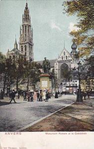 Monument Rubens Et La Cathedrale, Anvers (Antwerp) Belgium, 1900-1910s