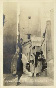 algeria, ALGIERS, Native Women in the Arab Quarter (1930s) RPPC