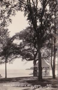 New York Port Kent From Trembleau Hall Lawn 1927 Real Photo