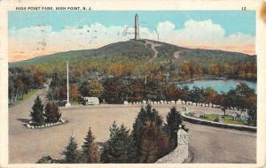 High Point New Jersey Park Scenic View Antique Postcard K58675