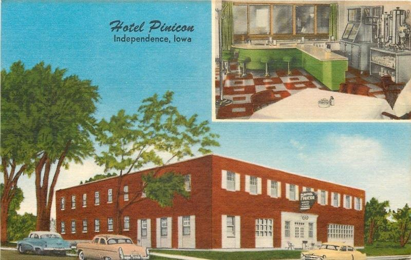 Independence Ia Hotel Pinicon Inset Dining Area Lunch Counter Nice 1950s Cars