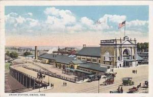 Nebraska Omaha Union Railroad Station 1920 Curteich