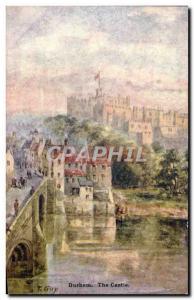 Postcard Old Durham The Castle