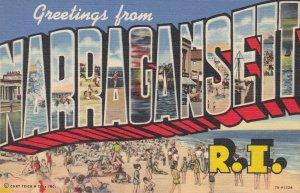 NARRAGANSETT , Rhode Island, 1930-40s ; Large Letter