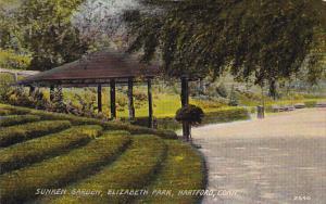 Sunken Garden, Elizabeth Park, Hartford, Connecticut, PU-1910