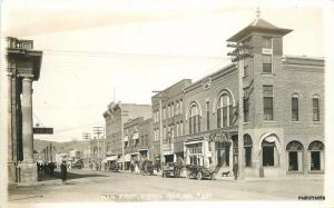 1920s Main Street Klamath Falls Oregon RPPC Real Photo Postcard 50