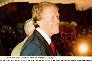 Georgia Plains President Elect Jimmy Carter At The Depot On Victory Morning