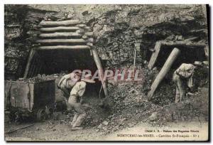 Old Postcard Ardoisieres Montceau les Mines St Francois Carriere TOP