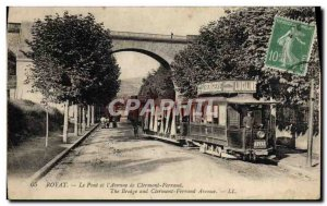 Old Postcard Tram Train Royat Bridge and & # 39avenue Clermont Ferrand