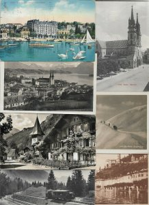 Switzerland - Ouchy Luzern Meiringen and more Postcard Lot of 26 with RPPC 01.02