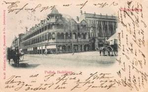 Pollak Buildings, Johannesburg, Transvaal, Early Postcard, Used in 1904