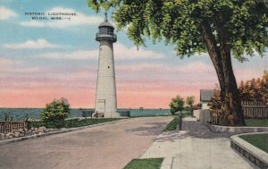 BILOXI , Mississippi, 1942 ; Historic Lighthouse