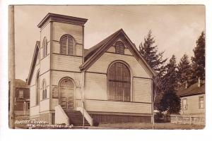 Real Photo, Baptist Church, New Westminster, British Columbia, Used 1911