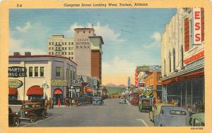 Tucson AZ~Congress Street~SH Kress 5&10~Field's Diamonds~Martin Drug Co~1947