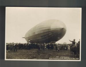 1929 Mint RPPC Graf Zeppelin Landing Switzerland  LZ 127 Real Picture Postcard