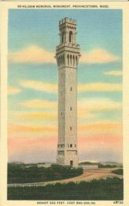 Pilgrim Memorial Monument, Provincetown, Mass 1940s unuse...