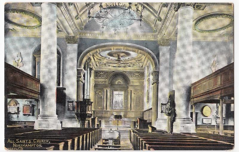 Northamptonshire; All Saints Church Interior, Northampton PPC, By Valentines