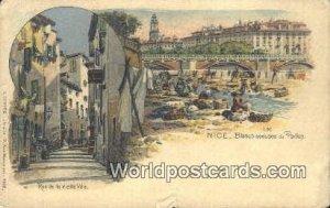 Blanchisseueses du Paillon Nice, France, Carte, 1919 Missing Stamp