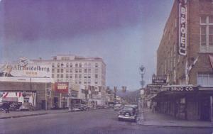ABERDEEN, Washington, 1940-60s; Wishkah Street, Western Union, Drug Store