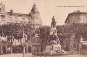 France Nice Statue de Gambetta
